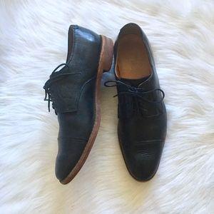 Allen Edmunds Oak Street Black Leather Oxfords 13